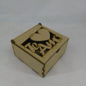 "Caja tapa rebatible ""TE AMO"""