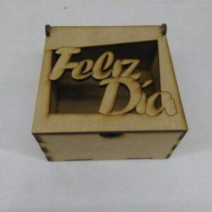 """Caja tapa rebatible """"FELIZ DIA"""""""