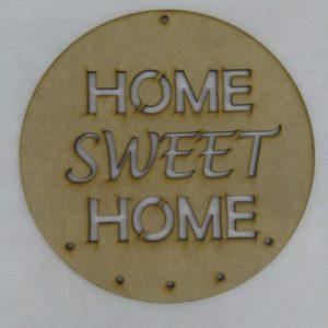 Circulo frase HOME SWEET HOME (atrapa sueños) 20cm