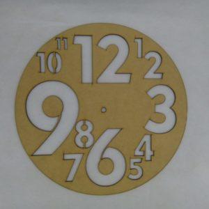 Base para RELOJ Númerotes. Diámetro 30cm