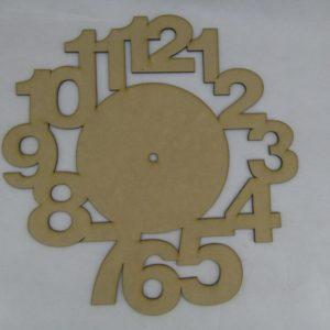 Base para RELOJ Números Arial. Diámetro 30cm