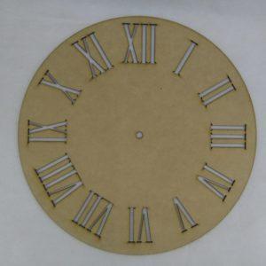 Base para RELOJ Números Romanos. Diámetro 30cm