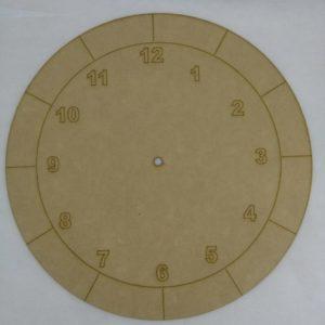 Base para RELOJ Números Arial 1. Diámetro 30cm