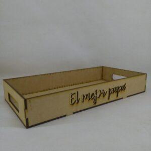 Bandeja EL MEJOR PAPÁ 15x30x4.5cm