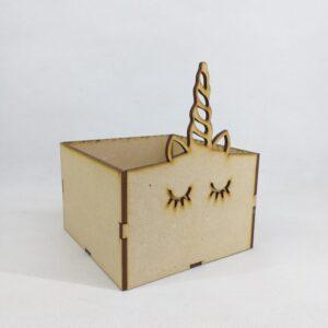 Caja unicornio 12x12x8cm