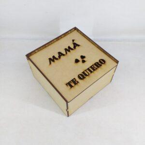 """Caja """"Mamá te quiero"""" con tapa rebatible"""