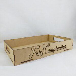 "Bandeja ""Feliz Cumpleaños"" cursiva"