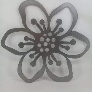 Flor en chapa MODELO 2