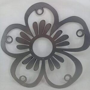 Flor en chapa MODELO 1