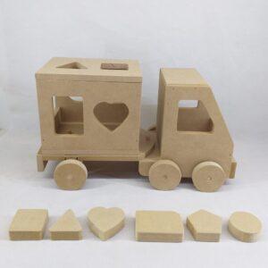 Camión articulado con cubos didácticos